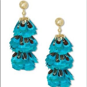 Kendra Scott Lenni Feather Statement Earrings
